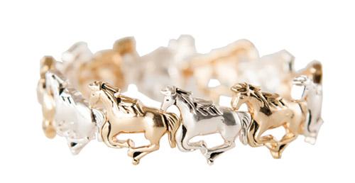 GALLOPING HORSES BRACELET