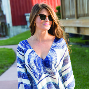 What I'm wearing: Mud Pie Cover Up