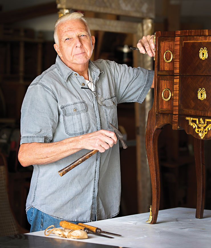 Antique Furniture Gets Restored To Its Original Beauty At The Hands Of Philip Davi
