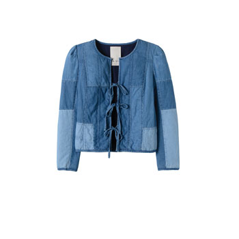 Indigo patch jacket